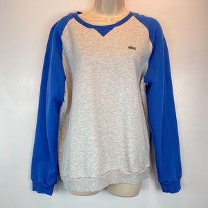 Lacoste gray / blue sweatshirt  sz 6